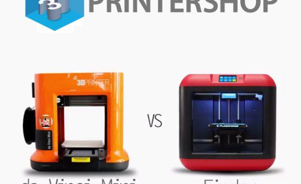 XYZprinting Da Vinci Mini vs Flashforge Finder 3D-printer