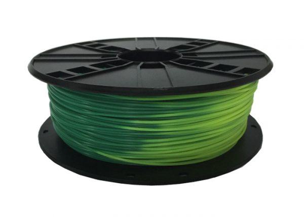 PLA Blauw/Groen naar Geel/Groen 1.75 mm
