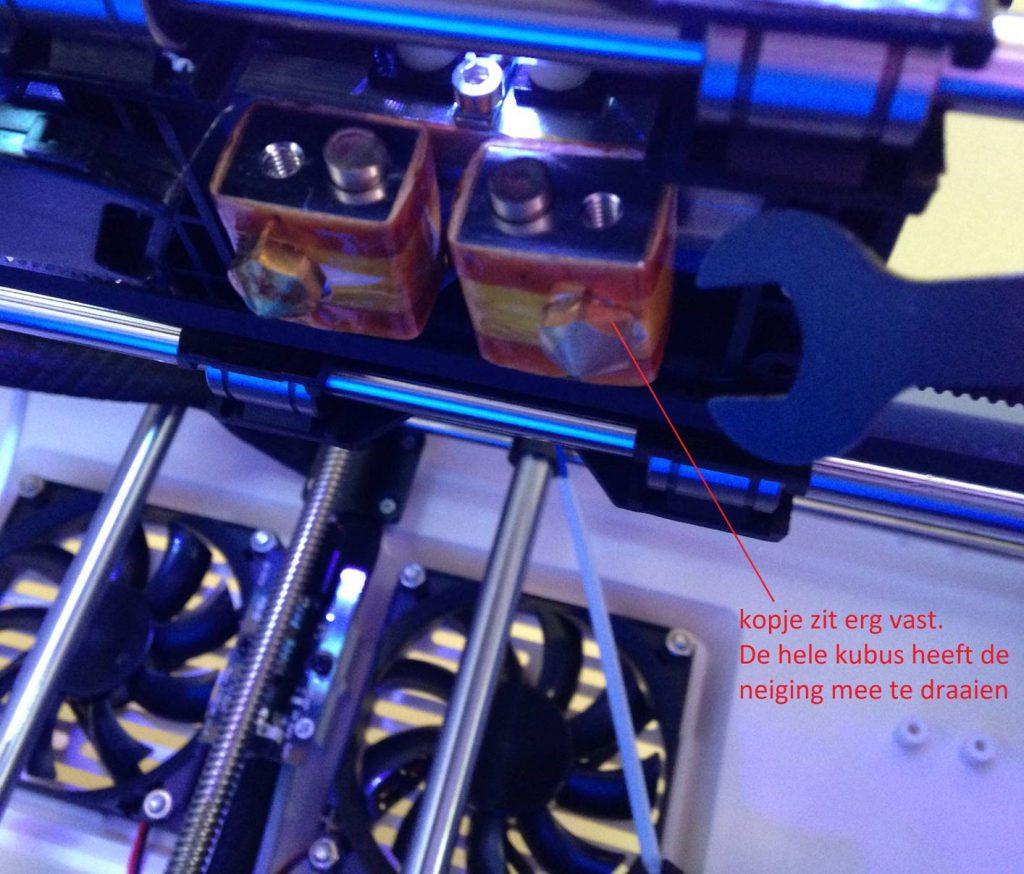 Nozzle vervangen Flashforge Dreamer 3D-printer