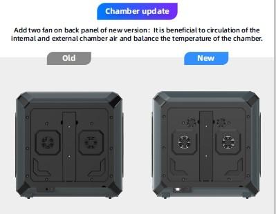 Chamber update Flashforge Creator 3