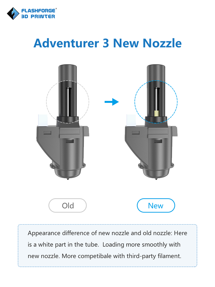 Nozzle Assembly Flashforge Adventurer 3